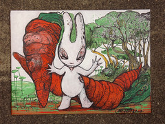aleister 236 carottes (mc1984) Tags: trees rabbit nature ink acrylic arboles canvas toile peinte posca mc1984 aleister236