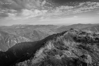 vue sur la vallée d'argeles et pierrefitte depuis le viscos alt 2147m