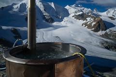the smallest jacuzzi with the greatest view (Diavolezza at 2'973m) (Toni_V) Tags: summer mountains alps schweiz switzerland europe suisse hiking 28mm rangefinder jacuzzi glacier bellavista alpen svizzera gletscher engadin wanderung m9 2014 bernina oberengadin graubünden grisons svizra pizpalü diavolezza grischun vadretpers pizspinas elmaritm messsucher 140824 ©toniv leicam9 pizzupo l1018155 berghausdiavolezza wwwdiavolezzach