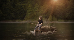 notresizedfireflies (lynzybrooke) Tags: water fishing child autism creativecomposition
