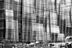 street noise (ygchan) Tags: seattle bw lines reflections washington wires