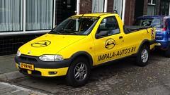 Fiat Strada 1.7 TD 70 (sjoerd.wijsman) Tags: auto holland cars netherlands car yellow jaune strada fiat nederland thenetherlands pickup voiture gelb zoetermeer vehicle holanda autos geel paysbas olanda fahrzeug niederlande zuidholland carspotting yellowcars fiatstrada carspot sidecode6 17vrnk