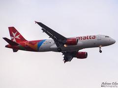 Air Malta --- Airbus A320 --- 9H-AEQ (Drinu C) Tags: plane heathrow aircraft sony airbus dsc lhr a320 egll airmalta 9haeq hx100v adrianciliaphotography