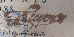 PA4367A21599VOL2_PG1_INS (JLPProject) Tags: philosophy stamp latin inscription stignatius 16thcentury pa4367a21599