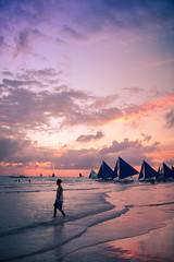 in White Beach (imyanghai) Tags: sunset white beach philippines boracay 菲律宾 白沙滩 长滩岛 博拉卡