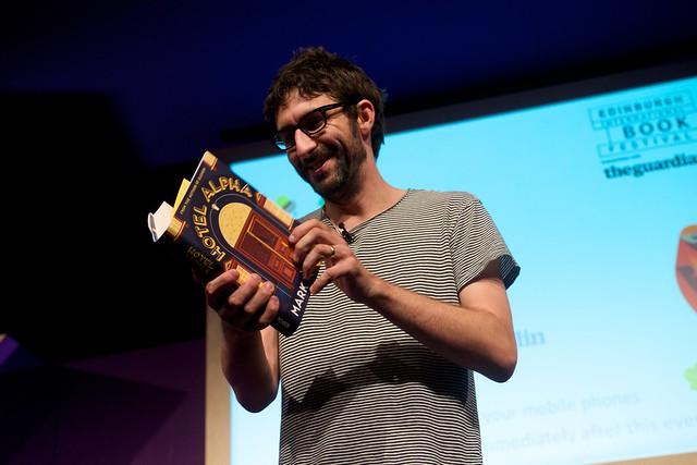 Mark Watson reading from his latest novel Hotel Alpha