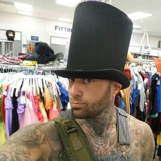 Hat shopping at the GOODWILL woot! Woot! #jamesdangerharvey