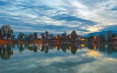 lake Zajarki (69) - sunrice (Vlado Fereni) Tags: lakes lakezajarki sunrise autumn autumncolours autumnmorning cloudy clouds zaprei croatia hrvatska nikond600 nikkor173528
