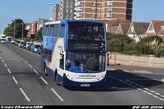 15984 (northwest85) Tags: stagecoach worthing coastliner 700 yn64 xsl 15984 scania alexander dennis adl enviro 400 brighton marine parade bus yn64xsl