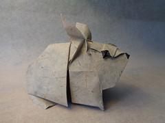 Conejo (Rabbit) (mrmicawer) Tags: papiroflexia origami papel conejo rabbit granja