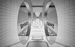 Subway Frankfurt (O l l i . B .) Tags: schwarzweis schwarz sw weis white blackwhite black frankfurt fineart ffm hessen subway subwaystation bockenheimerwarte ubahn underground untergrund canoneos5dmkii canonef1740mm architektur architecture arquitectura