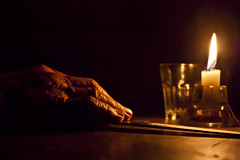 100 anni fa - 100 years ago (dafnemunaretto) Tags: mani hands hand mano candela soft light baita rural rurale