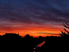The Brighton train (sunset1uk) Tags: sunset sky train southernrailways portslade station autofocus