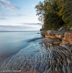 Amazing Shoreline (maureen.elliott) Tags: shoreline lakesuperior munising michigan upperpeninsulaofmichigan evening skies rock rockforms waterfall nature outdoors water