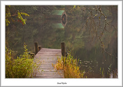 Loch Ard Boathouse (flatfoot471) Tags: 2011 autumn boats jetty landscape lochard mist normal rural scotland stirlingshire trossachs unitedkingdom aberfole
