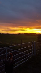 sunset from the lane of Roseberry topping. (shelly1592012) Tags: sunset roseberrytopping sky pinchinthorpe