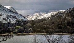 Fresh snowfall. View towards Helvellyn from the Side Farm campsite (lukskat) Tags: view towards helvellyn from camp site patterdale lake district april 2012 nikon p7000