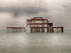 West Pier - 150 Years Old (larryvanhowe) Tags: places europe unitedkingdom sussex brighton subject sea editor impression