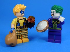 I Like You Kid (MrKjito) Tags: lego minifig super villains dc joker trickster flash batman comic comics bomb pie villain prankster clown tech