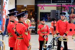 Rememberance (sgreen757) Tags: royal british legion rememberance red brass band cabot circus bristol city center shopping centre fuji fujifilm x30