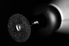 Grinding wheel (karl.b) Tags: grinding macro sigma15028 nikond610 ringflash powertool blackandwhite tools dark beautiful indoor nopeople monochrome blackbackground depthoffield