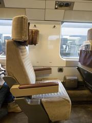 Eurostar (James E. Petts) Tags: eurostar france garedunord interior paris sncf railway seating train