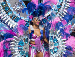 lost in the costume (Mark Rigler UK) Tags: portrait beautiful school samba notting hill carnival 2016 london england party street girl dance festival carribean parade music bass candid people brazilian costume ladbroke grove westbourne sony rx10