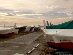 Barche (fabricata) Tags: genova genoa liguria barche boats mare sea beach spiaggia sunset tramonto