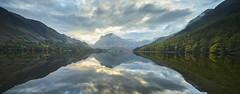 Buttermere Lake (IanMcConnachie) Tags: buttermerelake lakedistrict lake reflection autumn water landscapepanorama landscapephotography lancaster sun clouds mountain mountainside lakedistrictmoutaiin england