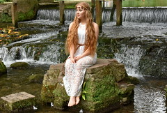 Elegance and poise. (pstone646) Tags: beauty youngwoman portrait kent younglady outdoors waterfall sitting water river