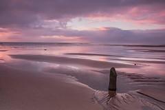 Elliot beach sunrise. (adamcaird) Tags: canon7dmkii coast coastline sea seascape sand sigma cokin filter explored colour outdoor scotland water clouds