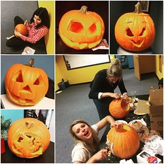Our annual pumpkin carving went well! Do you have a favorite?!     #jackolantern #halloween #carsonca #workplace #funatwork #pumpkincarving #pumpkin #halloweenfun #halloween2016 (oln_inc) Tags: oln inc carson ca los angeles