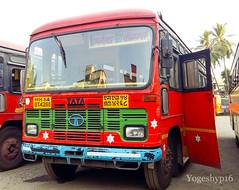 Arnala - Kolhapur (yogeshyp) Tags: msrtc st msrtcparivartanbus arnalast arnalakolhapurstbus