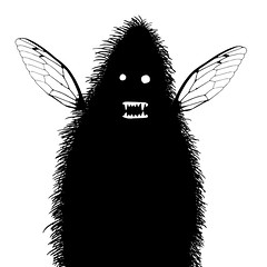 Hairy fairy (Don Moyer) Tags: creature fairy ink moleskine notebook moyer donmoyer brushpen drawing