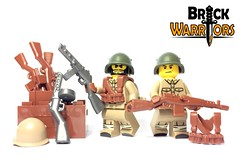 Dec 2016 - WW2 Soviet Infantry (BrickWarriors - Ryan) Tags: brickwarriors custom lego minifigure weapons helmets armor guns rifle soviet union ussr russia smg suspenders gear world war ww2 military infantry