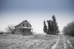 The Lost Day (gerrypocha) Tags: december abandoned fog derelict monochrome hidden saskatchewan prairie
