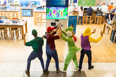 (breakbeatbilly) Tags: mariobrothers costumes halloween sanfrancisco mall street streetphotography colorful fun playing game