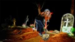 Noche de brujas (Unos y Ceros) Tags: nochedebrujas miedo canguelo pasajedelterror espanto susto acojone pánico horror tembleque pavor sobresalto angustias sorpresa tormento congoja zozobra intranquilidad ansiedad apuro pesadilla penalidad reconcomio desazón resquemor angustia alucinaciones nochedeánimas trucotrato disfraces aviaparklamuela fiestadelanoche zaragoza aragón textura pinturaluz unosyceros 2016 lightroom nikond700 zaragonés zaragoneses europa unióneuropea ue invarietateconcordia