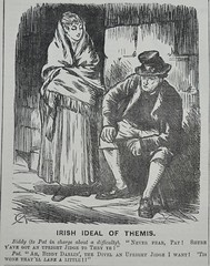 Irish Ideal of Themis! -  Punch 1873 (AndyBrii) Tags: punch 1873 satire woodcuts engravings