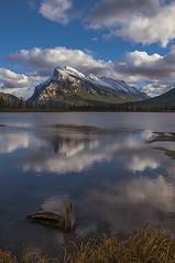 Fuzzy reflection (Len Langevin) Tags: banff alberta canada rockies rocky mountains reflection vermilionlakes mtrundle landscape nature nikon d300 nikkor 18300