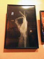 HALLOWEEN 2301 (RANCHO COCOA) Tags: iwantyourskull flickertheaterbar athens georgia downtown bar halloween art show exhibition groupshow stevenmilsap photograph xray bones fingers hand wrist okay