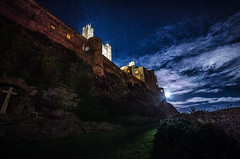 out comes the moon (Glen Parry Photography) Tags: night nikon sigma glenparryphotography nightphotography darksky landscape bamburgh bamburghcastle northumberland sigma1020mm d7000 nightsky clouds