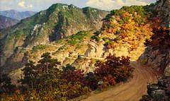 Le col Jiktong conduisant au front - Hwang To Jun - Peinture à l'huile (nokoredstar) Tags: aquarelle peinture coréedunord pyongyang paysage broderie
