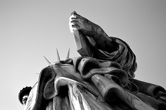 Lady Liberty (Marina Garibotti) Tags: libertyisland newyork usa america newyorkcity blackandwhite travel nikon statueofliberty wanderlust