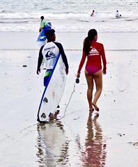Surf lessons on Kuta beach . (Franc Le Blanc .) Tags: panasonic lumix indonesia bali kuta pantai beach surfschool candid