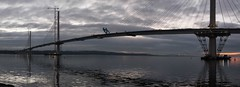 Queensferry Crossing panorama A (Bill Cumming) Tags: fife forth riverforth newqueensfewrrycrossing bridge sunset gloaming panorama