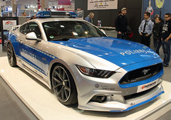 Polizei Mustang (Schwanzus_Longus) Tags: essen motorshow motor show german germany us usa america american new modern car vehicle coupe coup muscle police polizei ford mustang 50