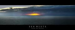 Sea Mists (John_de_Souza) Tags: johndesouza seamists iceland sea horizon evening sunset ocean water panorama cloud moody foreboding sinister creepy lonely desolation
