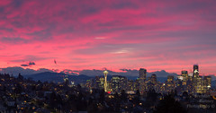MK Delight. (Brendinni) Tags: sky red landscape outdoors super pov shootingwithmk trees houses skyline seattle seattlewa washington cold city citylights house buildings architecture mothernature polarizedfilter ndfilter