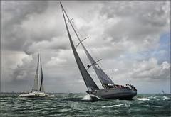 Xtravagance Round the Island (rogermccallum) Tags: sail sailing roundtheisland solent boat boating sea tacking trimaran